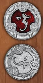 LEGENDARY COINS - RPG SPELL TOKEN - RPG Spell Token Red 8 (1stk)