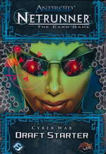 ANDROID NETRUNNER LCG DRAFT - Cyber War Draft Starter (POD) - KRÆVER DRAFT RUNNER- ELLER CORPORATION PACK! - TILBUD (så længe lager haves, der tages forbehold for udsolgte varer)