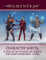 NUMENERA - Character Sheets - TILBUD (så længe lager haves, der tages forbehold for udsolgte varer)