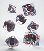 TERNINGER - CLASSIC RPG - Translucent & Blue-Red (7)