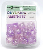 TERNINGER - DIFFUSION - Amethyst with White Numbers - Set of 7