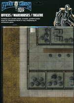 SAVAGE WORLDS - DEADLANDS NOIR - Map Offices/Warehouses/Theatre - TILBUD (så længe lager haves, der tages forbehold for udsolgte varer)
