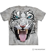 T-SHIRTS - THE MOUNTAIN - Big Face Tribal White Tiger (S)