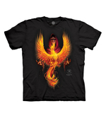 T-SHIRTS - THE MOUNTAIN - Anne Stokes Phoenix Rising (S)