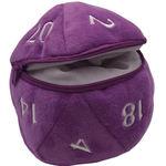 D20 PLUSH DICE BAG - D20 Plush Dice Bag - Purple