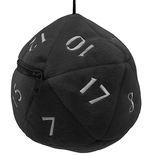 D20 PLUSH DICE BAG - D20 Plush Dice Bag - Black