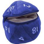 D20 PLUSH DICE BAG - D20 Plush Dice Bag - Blue