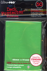 SLEEVES - Green Solid 50ct DP Pack