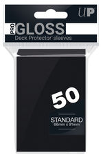 SLEEVES - Black Solid 50-Count Deck Protector