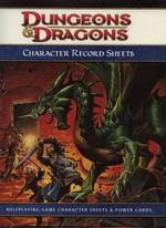 DUNGEONS & DRAGONS 4TH - Character Record Sheets - TILBUD (så længe lager haves, der tages forbehold for udsolgte varer)