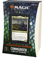 MAGIC THE GATHERING - Adventures in the Forgotten Realms Aura of Courage Commander Deck