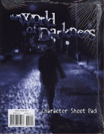 WORLD OF DARKNESS - Character Sheet Pad - TILBUD (så længe lager haves, der tages forbehold for udsolgte varer)